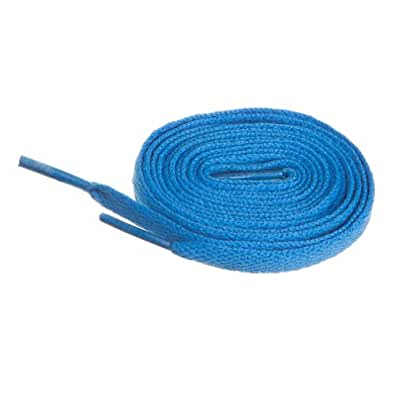 """BIRCH's Shoelaces in 27 Colors Flat 5/16"""" Shoe Laces in 4 Different Lengths (29.5"""" (75cm), Azure)"""