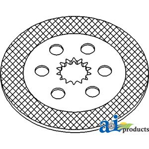 A&I Products Disc, Brake Replacement for John Deere Part Number RE186966