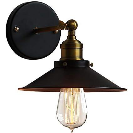 HDMY Loft American Iron Retro luz de Pared Ajustable Bar Cafe Internet Cafe E27 Linterna de