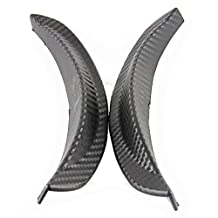POSSBAY 2Pcs Universal Fender Flares Wheel Lip Body Kits Carbon Fiber for Car Truck