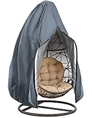 TopHGC Grote hoes voor eierstoel, waterdichte hoes voor hangende stoel-tuinstoelhoes voor buiten, stofhoes voor tuin rotan rieten schommelstoel