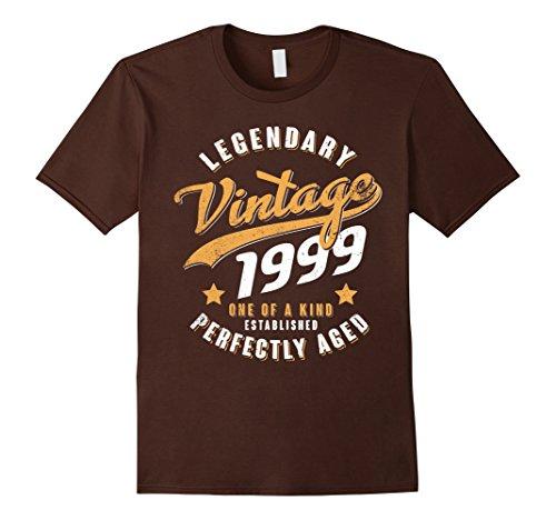 Mens Vintage 1999 19th birthday gift 19 years old 19 yrs Large Brown