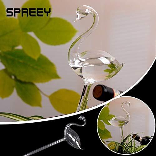 - Turner Portable Flamingo Cute Glass Automatic Watering Vase Garden Home Decor