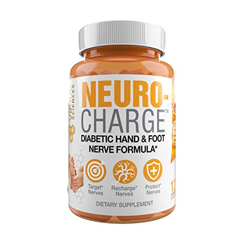 NeuroCharge - Diabetic Nerve Hand and Foot Formula for Neuropathy Pain Sufferers Clinically Proven Made in USA!