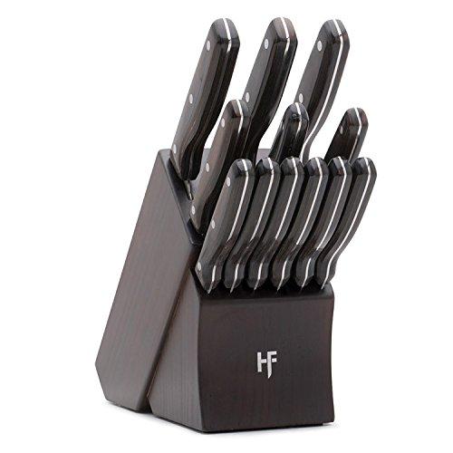 Hampton Forge HMC01B444A Norwood Cutlery Block Set, Wood