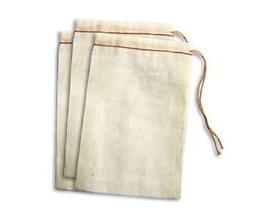 Amazon.com: Cotton Drawstring Muslin Bags (3