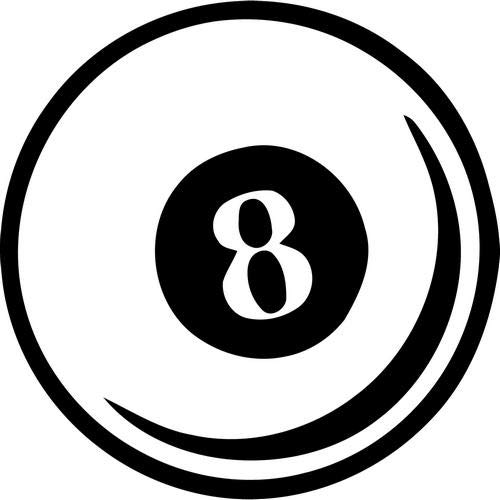 Mandy Graphics 8 Eight Ball Pool Billiard Vinyl Die Cut Decal Sticker for Car Truck Motorcycle Windows Bumper Wall Home Office Decor Size- [8 inch/20 cm] Tall and Color- Gloss ()