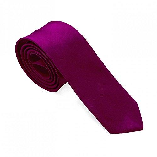 1 corbata para las camisas vestido y de la boda 21colores diferentes-mirada seda fuchsia + Etui / magenta + giftbox