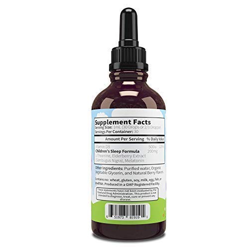 SleepBerry Liquid Melatonin for Kids - Natural Sleep Aid with Elderberry and Vitamin D - Boost Immune System While They Sleep by JoySpring (Image #1)