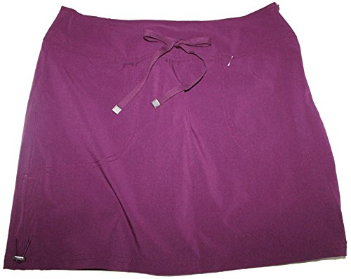 Price comparison product image Green Tea Women's Ripstop Nylon Active Athletic Casual Skirt Skort (M, Black) (S)