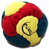 6 panel Hacky Sack (RED/YELLOW/GREEN) - Pro Freestyle 6-panel Footbags AKA Hacky Sacks - Ideal for kicks and catches!