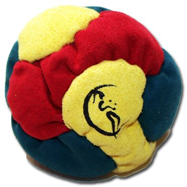 Flames 'N Games 6 Panel Hacky Sack - Green/Red/Yellow