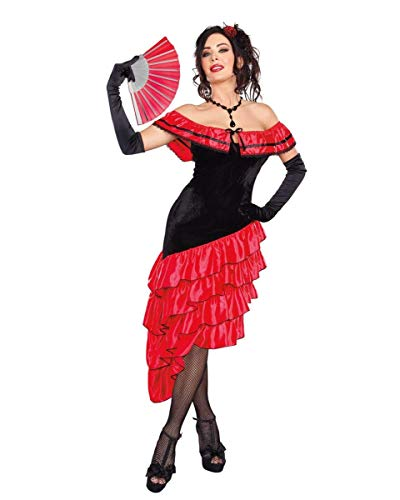 Dreamgirl Women's Spanish Dancer Costume, Black/Red, Small ()