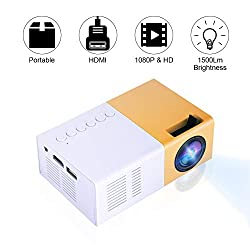 Fosa Mini Video Projectors Portable 1080p Led Projector Indoor Outdoor Movie Projectors Support Laptop Pc Smartphone Hdmi Input Great Gift Pocket Projector For Party Camping Home Cinema