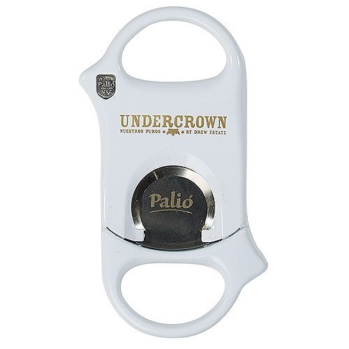 Palio Guillotine Cigar Cutter Hardened Surgical Steel Blades - Lifetime Warranty (Undercrown White) by Palio