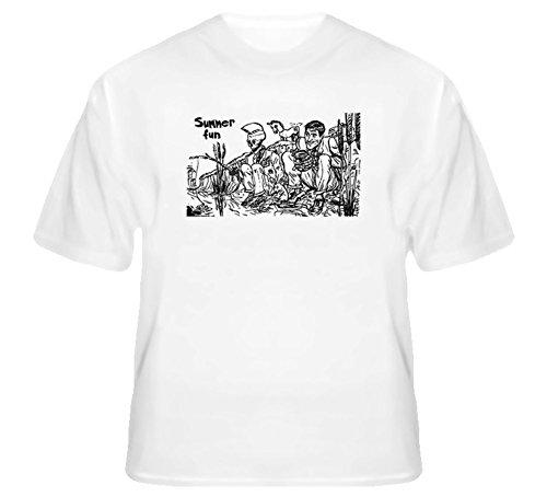 Late Night Show with Craig Ferguson Custom Front T Shirt 2XL White (The Late Night Show With Craig Ferguson)