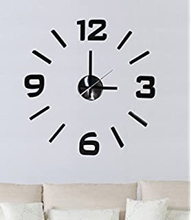 Fashion Large DIY Wall Clock Home Decor 3D Mirrors Sticker Cool