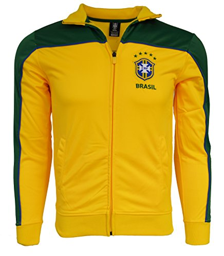 Brasil Jacket Youth Boys Soccer Track Brazil Zip up (YL)