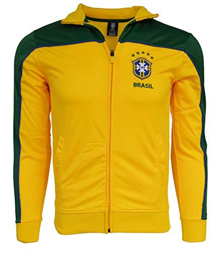 Brasil Jacket Youth Boys Soccer Track Brazil Zip up (YS) ()