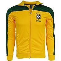 Brasil Jacket Youth Boys Soccer Track Brazil Zip up