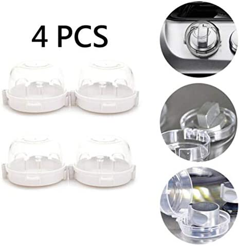 DDcafor Stove Knob Cover Baby Safety Oven Kitchen Protection for Child Proofing White 6 Pack
