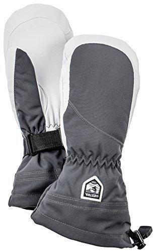 Hestra Women's Heli Mittens, Grey, Size 8 by Hestra