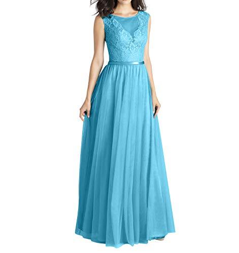 Spitze Partykleider A mia Braut Abendkleider Festlichkleider Linie Tuell Langes La Blau Abschlussballkleider Ballkleider Prinzess qH6wxtc0