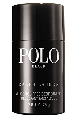 Polo Black by Ralph Lauren for Men, Alcohol-Free Deodorant, 2.6 Ounce
