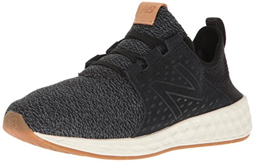 New Balance Women's Fresh Foam Cruz v1 Running Shoe, Black/Sea Salt, 8 B - Cruces Las Women
