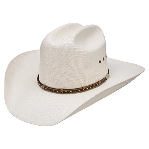 Stetson Men's 10X Natural Gunfighter Straw Cowboy Hat Natural 7 3/8