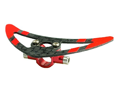 - Microheli Aluminum Tail Boom Support Mount w/ Fin (RED) - BLADE 200 SRX