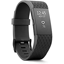Fitbit Charge 2 Heart Rate + Fitness Wristband, Special Edition, Gunmetal, Large (US Version)