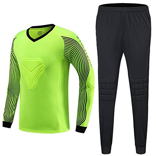 - Shinestone Men's Goalkeeper Armor BodyShield Padded Jersey with Sponge Protector for Football Baseball,etc (Green, Medium)