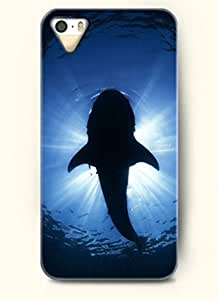 OOFIT Phone Case Design with Whale and the Light for Apple iPhone 5 5s 5g
