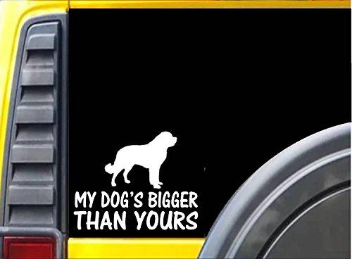 EZ-STIK My Dog's Bigger Than Yours K476 6 inch Sticker Saint Bernard Dog Decal