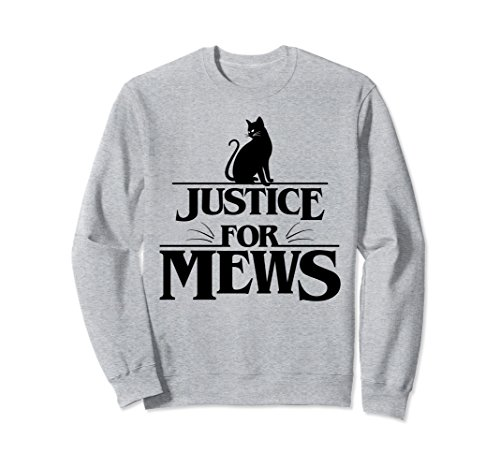 Unisex Justice For Mews Sweatshirt Large Heather Grey Justice Sweatshirt