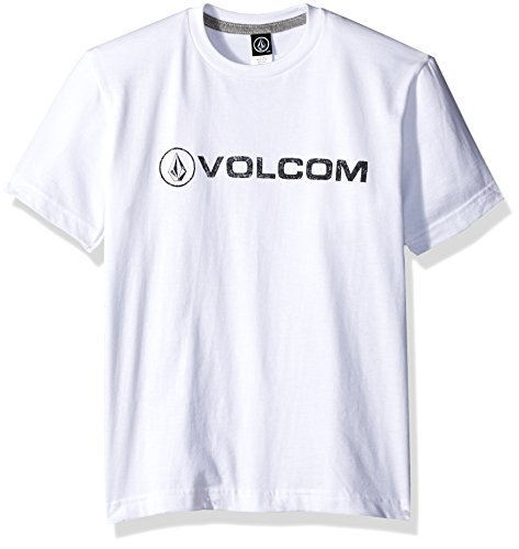 Volcom Big Boys Euro Pencil T-Shirt, Arctic White, Small