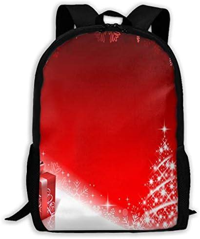 NA Rucksack Dreamy Christmas Reißverschluss Schule Büchertasche Daypack Reiserucksack Gym Bag für Herren Damen