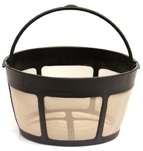 THE ORIGINAL GOLDTONE BRAND Reusable Basket-style 10-12 Cup Coffee Filter with Screen Bottom (Coffee Style Basket Filter)