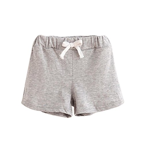 Lurryly Summer Children Cotton Shorts Boys and Girl Clothes Baby Fashion Pants (Size:5T,Label Size:130, Gray) from Lurryly