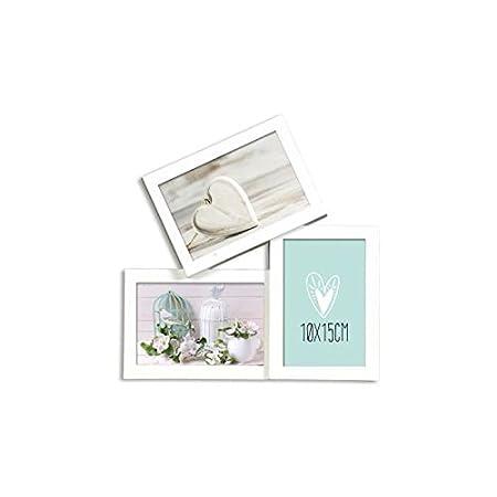 casita pele mele trio 3 photos 10 x 15 cm white - Montage Pele Mele