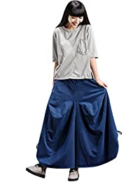 Mordenmiss Women's New Cotton Linen Solid Color Clothing Casual Travel Garment