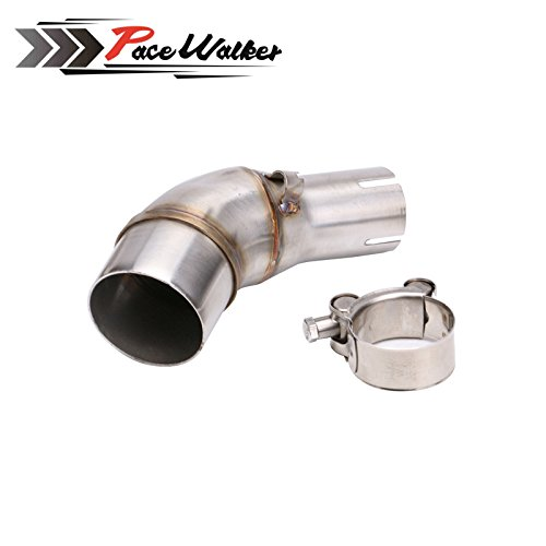 A middle connect for kawasaki Z250SL Motorcycle Exhaust Pipe Muffler Escape Connecting Pipe Front Link Pipe Moto Mid Pipe by pacewalker (Image #6)