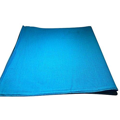 One Dozen Solid Plain Colors 100% Cotton Bandana - 12 Pack by M.H.I. ( 14 Colors) (Sky Blue)