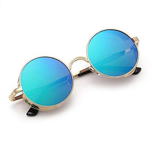 viajes Color aviador ronda Gafas gafas Unisex Vintage verano de sol Hombres Mujeres E de Winwintom de Gradiente 2018 color Moda pUBSnS