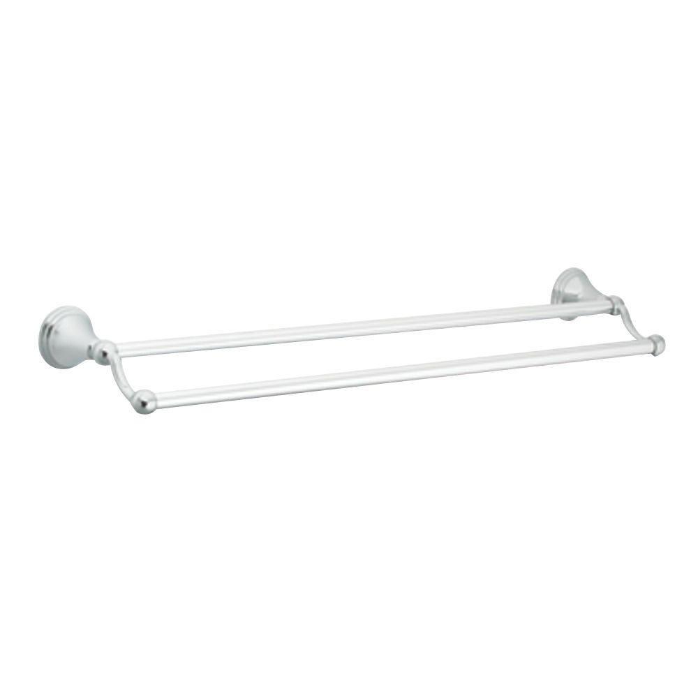 Moen DN8422CH Preston 24-Inch Bathroom Double Towel Bar, Chrome
