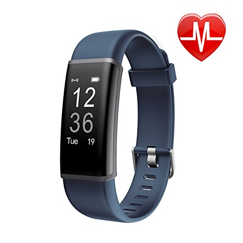 Fitness Tracker HR, Letscom Activity Tracker Watch with Heart Rate Monitor, IP67 Waterproof Smart Bracelet as Step Counter Pedometer Calorie Counter Watch for Android and iOS