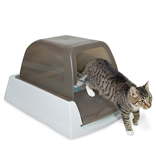 PetSafe ScoopFree Ultra Self-Cleaning Cat Litter Box, Covered, Automatic with Disposable Tray, Taupe - PAL00-15342