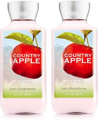 Bath and Body Works (2) Country Apple Body Lotions-8 oz. Bottles Apple Scented Body Lotion