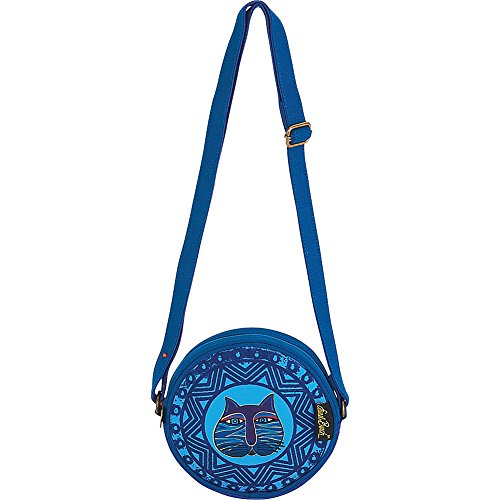 Feline Stamped Burch Blue Bag Round Laurel Crossbody q7pxnBEEf